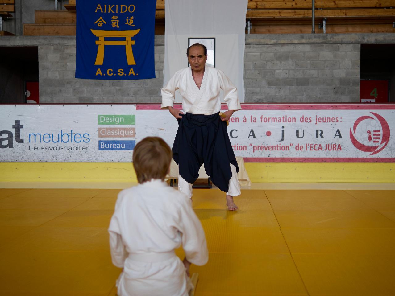 Aikikai stage of tada hiroshi shihan in paris - Institut national du judo porte de chatillon ...